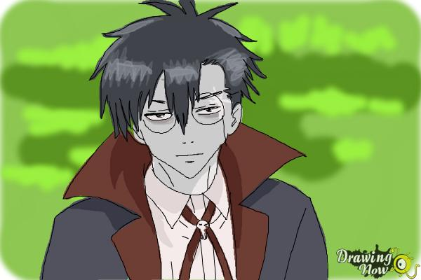 How to Draw Braz D. Blood from Blood Lad - Step 11