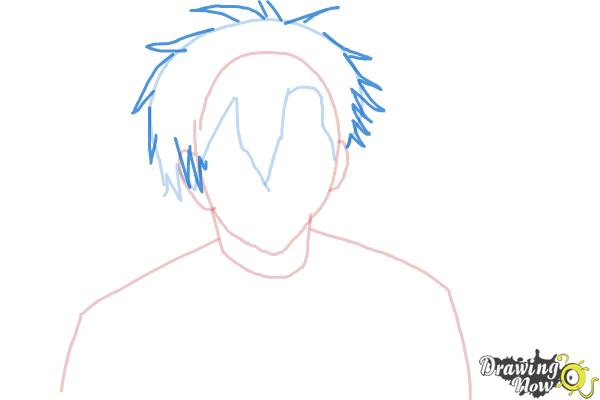 How to Draw Braz D. Blood from Blood Lad - Step 4