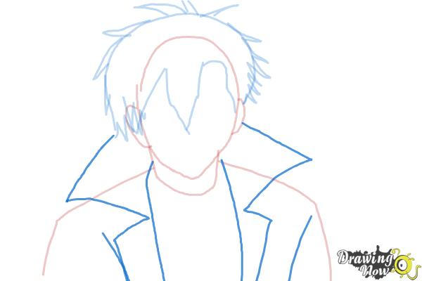 How to Draw Braz D. Blood from Blood Lad - Step 5