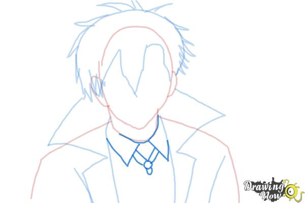 How to Draw Braz D. Blood from Blood Lad - Step 6
