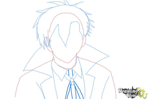 How to Draw Braz D. Blood from Blood Lad - Step 7