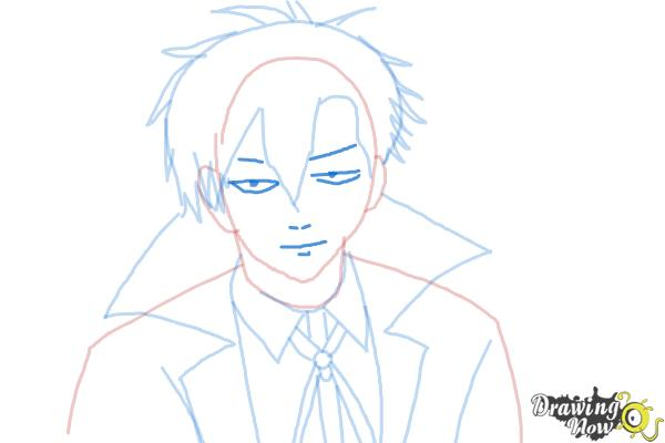 How to Draw Braz D. Blood from Blood Lad - Step 8