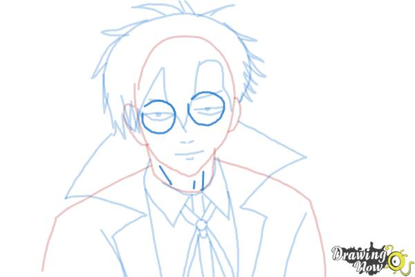 How to Draw Braz D. Blood from Blood Lad - Step 9