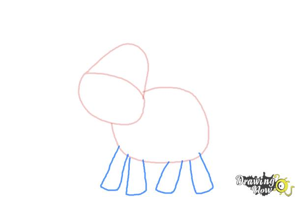 How to Draw a Moose For Kids - Step 3