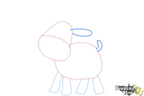 How to Draw a Moose For Kids - Step 4