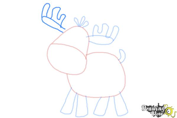 How to Draw a Moose For Kids - Step 6