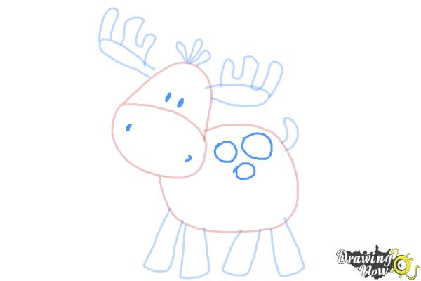 How to Draw a Moose For Kids - Step 7