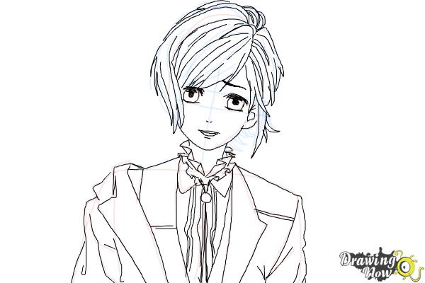 How to Draw Kanato Sakamaki Diabolik Lovers - Step 10