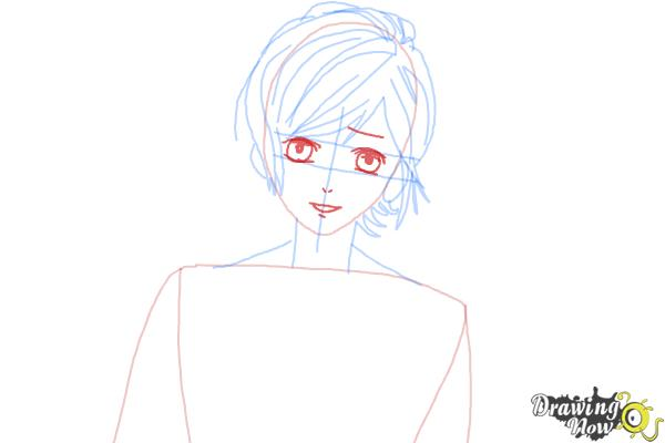 How to Draw Kanato Sakamaki Diabolik Lovers - Step 6