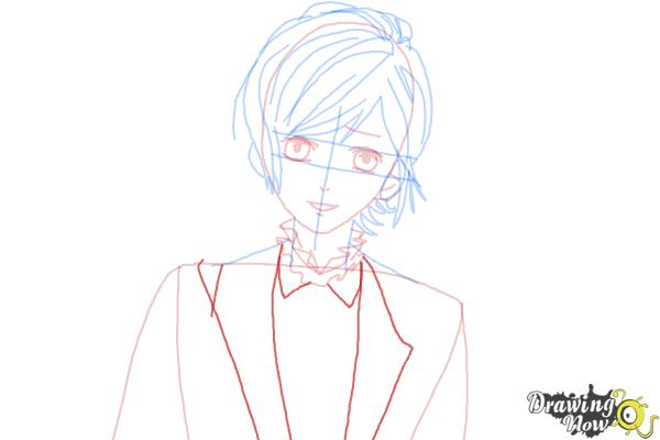 How to Draw Kanato Sakamaki Diabolik Lovers - Step 8