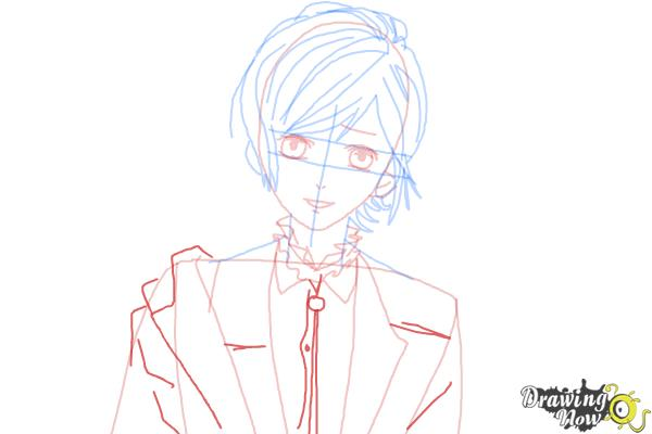 How to Draw Kanato Sakamaki Diabolik Lovers - Step 9