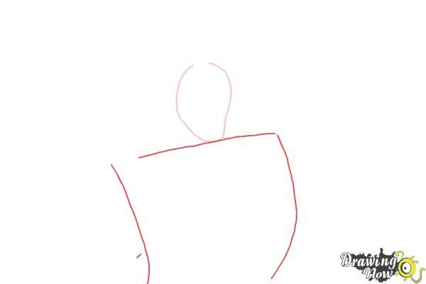 How to Draw Gaston, Disney Villain - Step 2