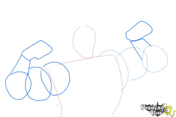 How to Draw Gaston, Disney Villain - Step 4