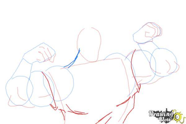 How to Draw Gaston, Disney Villain - Step 6