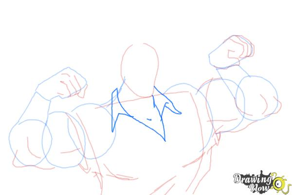 How to Draw Gaston, Disney Villain - Step 7
