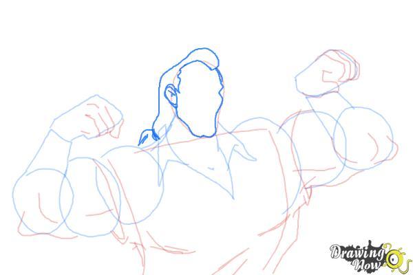 How to Draw Gaston, Disney Villain - Step 8