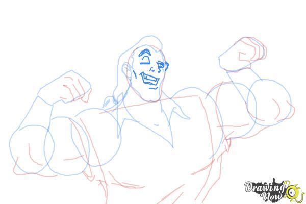 How to Draw Gaston, Disney Villain - Step 9