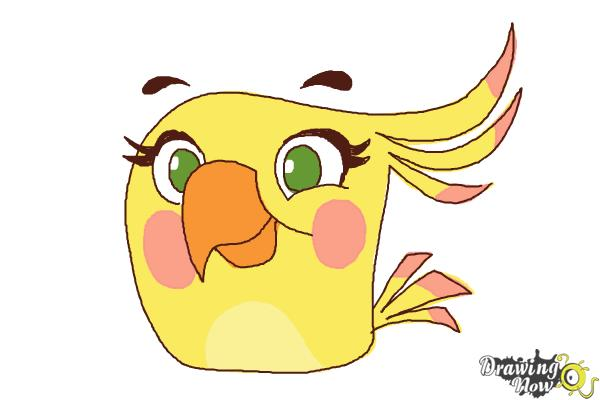 How to Draw Angry Bird Poppy from Angry Birds Stella