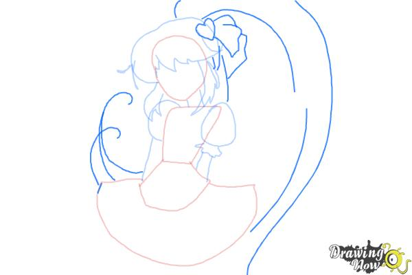 How to Draw Cure Lovely, Aino Megumi from Happiness Charge Precure - Step 5