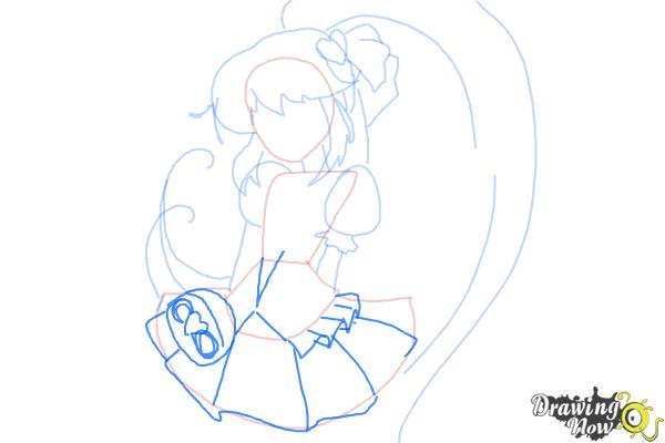 How to Draw Cure Lovely, Aino Megumi from Happiness Charge Precure - Step 6