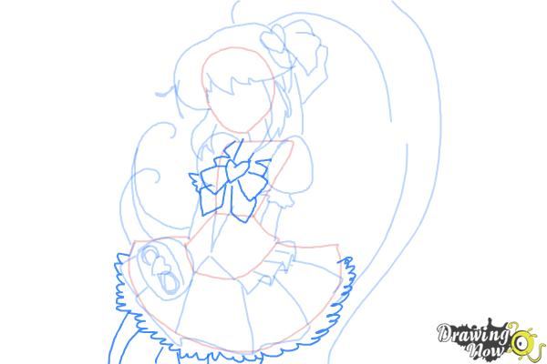 How to Draw Cure Lovely, Aino Megumi from Happiness Charge Precure - Step 7
