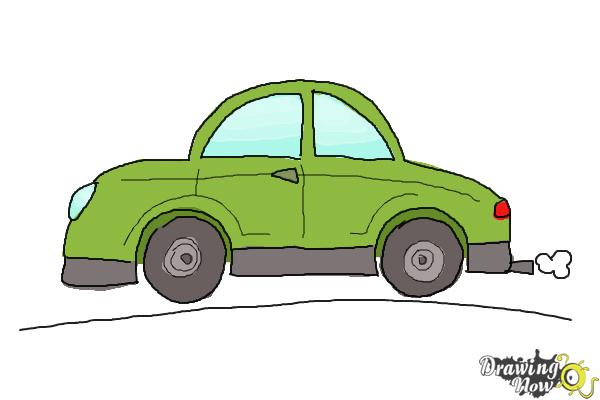 How to Draw Cars For Kids - Step 10