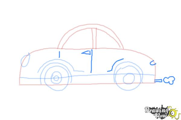 How to Draw Cars For Kids - Step 7