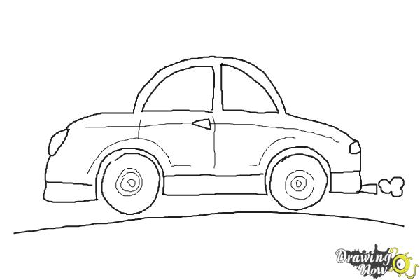 How to Draw Cars For Kids - Step 9