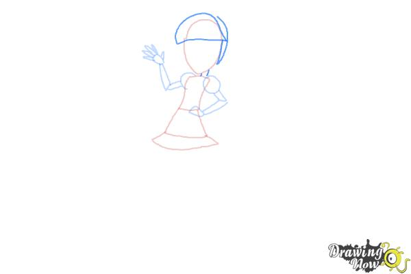 How to Draw Pixel Pizzaz from My Little Pony Equestria Girls - Step 5