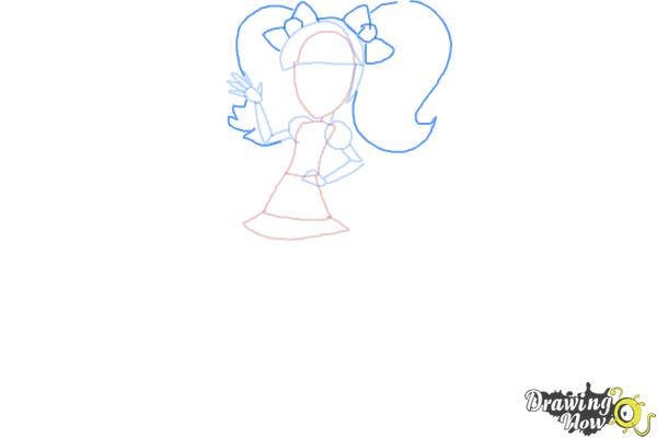 How to Draw Pixel Pizzaz from My Little Pony Equestria Girls - Step 6