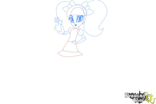 How to Draw Pixel Pizzaz from My Little Pony Equestria Girls - Step 7