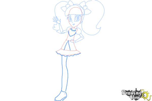 How to Draw Pixel Pizzaz from My Little Pony Equestria Girls - Step 8
