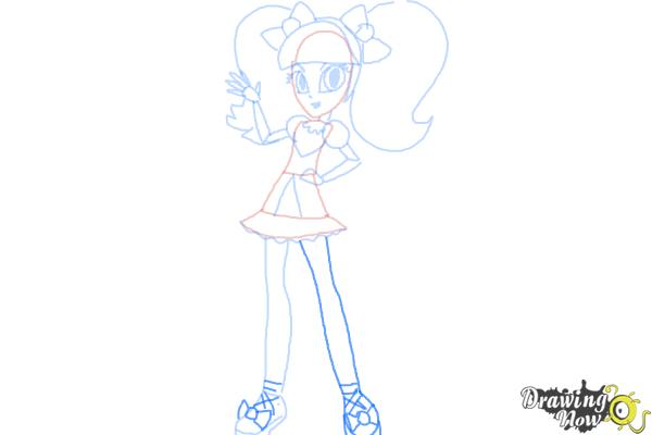 How to Draw Pixel Pizzaz from My Little Pony Equestria Girls - Step 9
