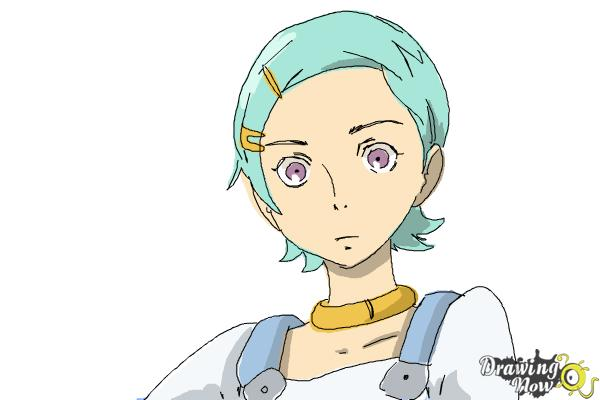 How to Draw Eureka from Eureka Seven - Step 10