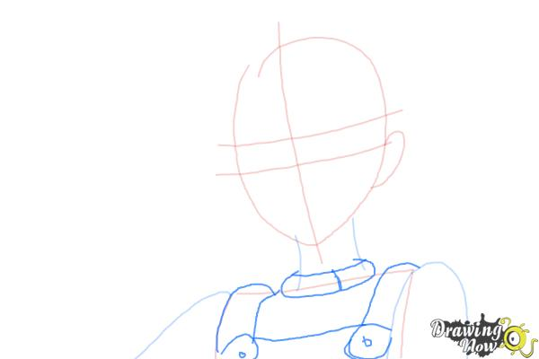 How to Draw Eureka from Eureka Seven - Step 5
