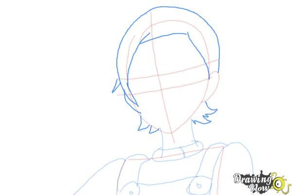 How to Draw Eureka from Eureka Seven - Step 6