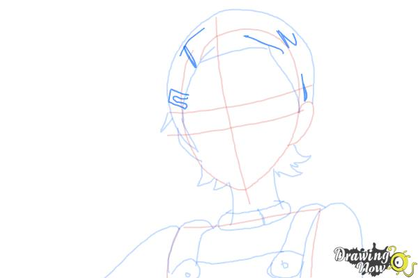 How to Draw Eureka from Eureka Seven - Step 7