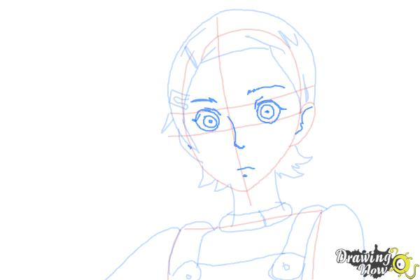 How to Draw Eureka from Eureka Seven - Step 8