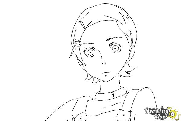 How to Draw Eureka from Eureka Seven - Step 9