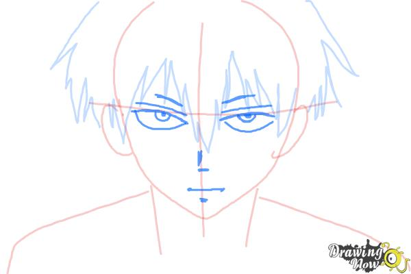 How to Draw Staz Charlie Blood from Blood Lad - Step 5