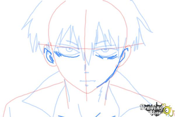 How to Draw Staz Charlie Blood from Blood Lad - Step 7