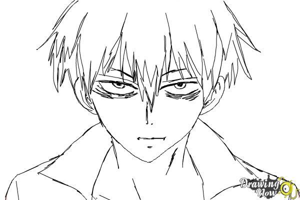 How to Draw Staz Charlie Blood from Blood Lad - Step 8