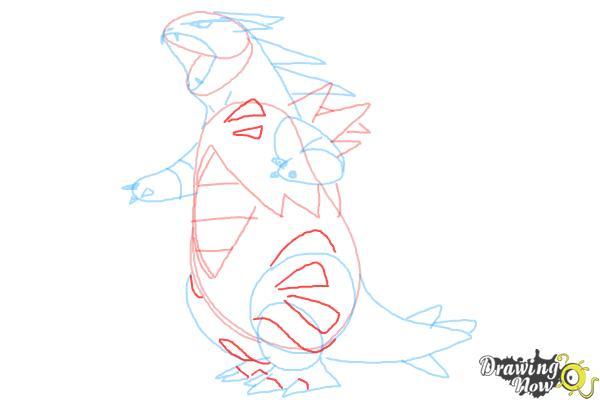 How to Draw Mega Tyranitar from Pokemon X