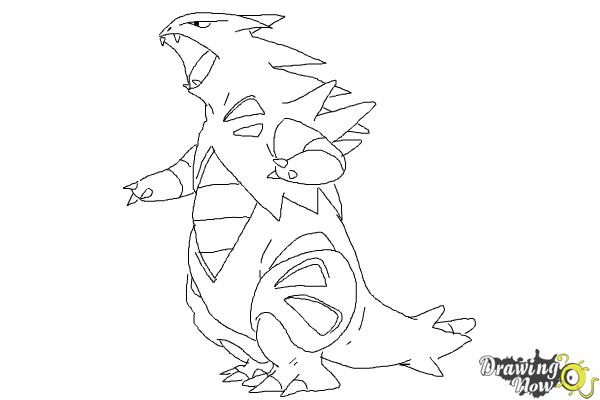 How to Draw Mega Tyranitar from Pokemon X