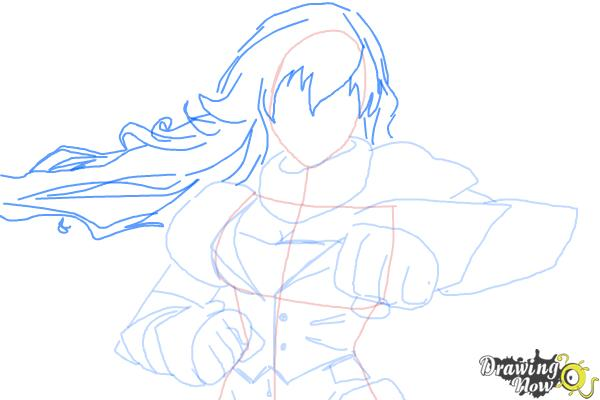 How to Draw Yang Xiao Long from Rwby - Step 7