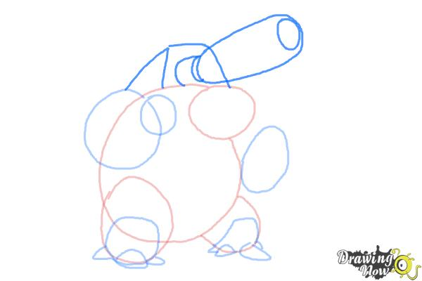 How to Draw Mega Blastoise from Pokemon X
