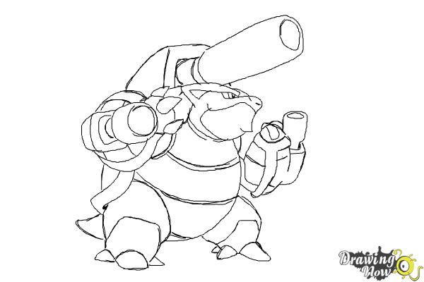 Pictures to draw mega drawing. How blastoise from pokemon