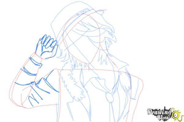 How to Draw Laito Sakamaki Diabolik Lovers - Step 8