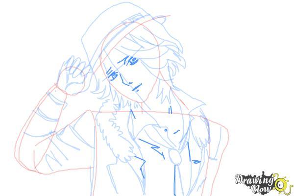 How to Draw Laito Sakamaki Diabolik Lovers - Step 9