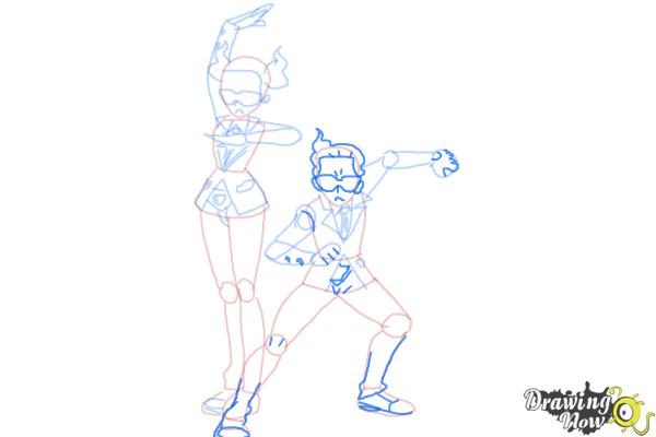 How to Draw Team Flare from Pokemon X & Y - Step 10